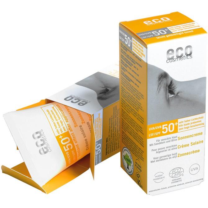 eco cosmetics Sonnencreme LSF 50+ getönt