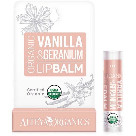 Alteya Bio Vanille & Rosengeranie Lippenbalsam