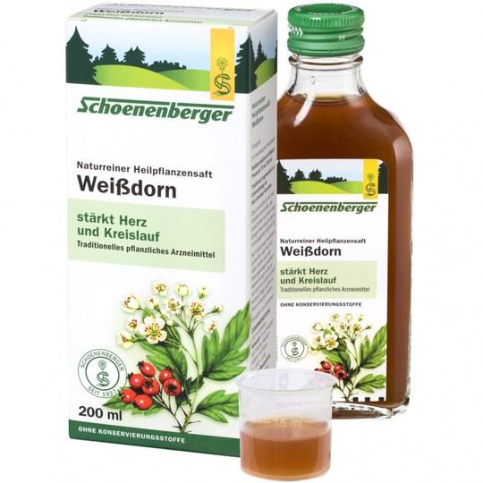 Schoenenberger Weißdorn Naturreiner Heilpflanzensaft