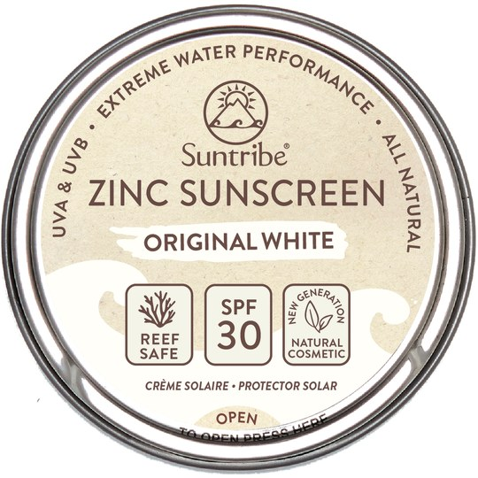 Suntribe Zinc Sunscreen LSF 30 bio Original White